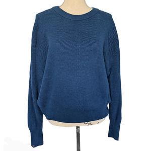 Elodie Knit Crewneck Sweater Teal Size XL